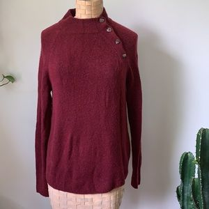 J. Crew Button Sweater in extra-soft yarn